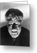 Movie Star Greeting Cards - Wolfman, 1941 Greeting Card by Granger