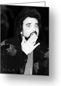 Rock And Roll Glass Greeting Cards - Wolfman Jack  Greeting Card by Bob Orsillo