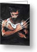 Wolverine Greeting Cards - Wolverine Greeting Card by Pet Serrano