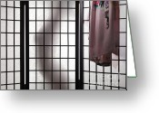 Shoji Screen Greeting Cards - Woman Behind Shoji Screen Greeting Card by Oleksiy Maksymenko