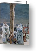 Soldiers Painting Greeting Cards - Woman Behold Thy Son Greeting Card by Tissot