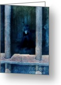 Regret Greeting Cards - Woman in Jail Greeting Card by Jill Battaglia