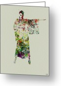 Performing Greeting Cards - Woman in Kimono Greeting Card by Irina  March