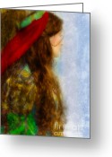 Middle Ages Greeting Cards - Woman in Medieval Gown Greeting Card by Jill Battaglia