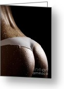Voluptuous Greeting Cards - Woman in Panties Made of Milk Greeting Card by Oleksiy Maksymenko