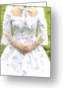 Elizabethan Greeting Cards - Woman In Period Dress Greeting Card by Joana Kruse