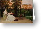 Courbet Greeting Cards - Woman of Frankfurt Greeting Card by Gustave Courbet