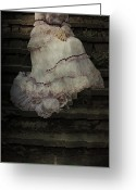Anonymous Greeting Cards - Woman On Steps Greeting Card by Joana Kruse
