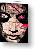 Pray Digital Art Greeting Cards - Woman Greeting Card by Ramneek Narang