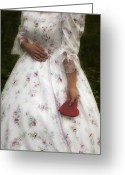 Elizabethan Greeting Cards - Woman With A Heart Greeting Card by Joana Kruse