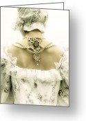 Shoulder Greeting Cards - Woman With Bonnet Greeting Card by Joana Kruse