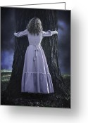 Spooky Moon Greeting Cards - Woman With Trunk Greeting Card by Joana Kruse