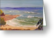 Pamela Meredith Greeting Cards - Wombarra Beach Greeting Card by Pamela  Meredith