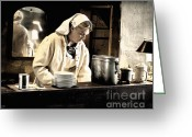 Photographs Digital Art Greeting Cards - Women at War 1943 Greeting Card by Steven  Digman
