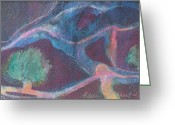 Abstract Card Pastels Greeting Cards - Women Dancing in the Woods Greeting Card by Adele Greenfield