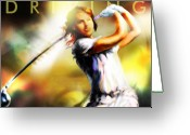 Golf Digital Art Greeting Cards - Women in Sports - golf Greeting Card by Mike Massengale