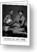 African American Female Greeting Cards - Women Of A New Tribe - Chores I Greeting Card by Jerry Taliaferro