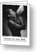 African American Female Greeting Cards - Women Of A New Tribe - Milk Maiden Greeting Card by Jerry Taliaferro