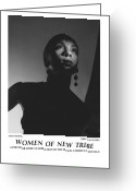 African American Female Greeting Cards - Women Of A New Tribe - Moon Kissed Greeting Card by Jerry Taliaferro