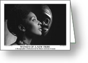 African American Female Greeting Cards - Women Of A New Tribe - Veronica with Mask Greeting Card by Jerry Taliaferro