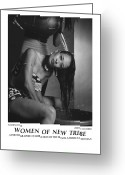 African American Female Greeting Cards - Women Of A New Tribe - Washing Hair Greeting Card by Jerry Taliaferro