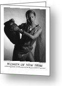 African American Female Greeting Cards - Women Of A New Tribe - Water Maiden I Greeting Card by Jerry Taliaferro