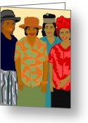 African American Art Drawings Greeting Cards - Women of the Church Greeting Card by Pharris Art