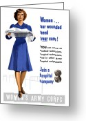 Health Care Greeting Cards - Womens Army Corps Greeting Card by War Is Hell Store