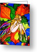 Fairies Greeting Cards - Wonder Greeting Card by Penny  Elliott