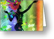 Amaze Greeting Cards - Wonderful 2 Greeting Card by Angelina Vick