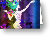 Amaze Greeting Cards - Wonderful Greeting Card by Angelina Vick