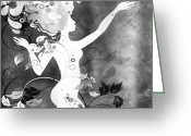 Amaze Greeting Cards - Wonderful BW Greeting Card by Angelina Vick
