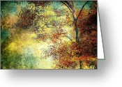 Abstract Impressionism Photo Greeting Cards - Wondering Greeting Card by Bob Orsillo