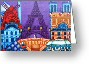 Rouge Greeting Cards - Wonders of Paris Greeting Card by Lisa  Lorenz