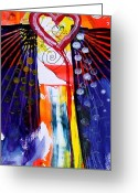 Jesus Art Painting Greeting Cards - Wondrous Love Greeting Card by J Vincent Scarpace