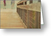 Shorts Greeting Cards - Wood And Mesh Bridge Greeting Card by Lynda Murtha