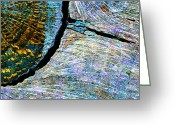 Abstract Impressionism Photo Greeting Cards - Wood Block Greeting Card by Bill Morgenstern