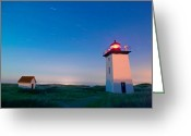 Cape Cod Mass Photo Greeting Cards - Wood End Lighthouse Provincetown Cape Cod Greeting Card by Matt Suess