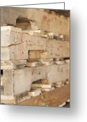 Wooden Pallets Greeting Cards - Wood Pallets Greeting Card by Shannon Fagan