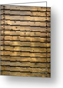 Dye Greeting Cards - Wood Planks Greeting Card by Carlos Caetano