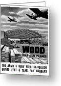 Second Greeting Cards - Wood Shelters Our Planes Greeting Card by War Is Hell Store