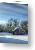 Shack Greeting Cards - Wood Greeting Card by Wayne Stadler