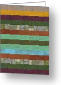 Board Fence Greeting Cards - Wooden Abstract X  Greeting Card by Michelle Calkins