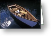 Paddles Greeting Cards - Wooden Boat And Paddles In Halibut Cove Greeting Card by Rich Reid