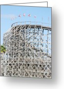 Wooden Coaster Greeting Cards - Wooden Coaster Greeting Card by Rob Hans