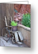 Invalid Greeting Cards - Wooden Wheelchair Greeting Card by Andrew Chianese