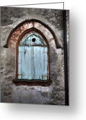 Rust Greeting Cards - Wooden Window Shutters Greeting Card by Joana Kruse