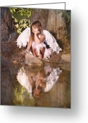 Idaho Artist Greeting Cards - Woodland Fairy Greeting Card by Cindy Singleton