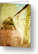 Ghostly Barn Greeting Cards - Woodland ghost Greeting Card by Tom Gowanlock