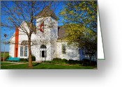 "\\\\\\\""boone County Photo Greeting Cards - Woodlandville Methodist Church Greeting Card by Cricket Hackmann"